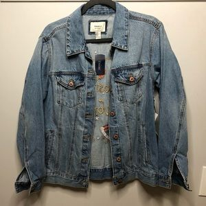 d60a69fc6 Cosmic World Embroidered Jean Jacket NWT